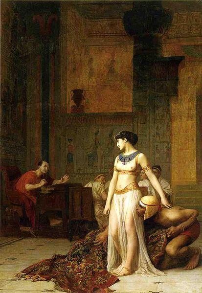 413px Cleopatra and Caesar by Jean Leon Gerome Petite histoire des mathématiques, 2e partie : DAthènes à Alexandrie