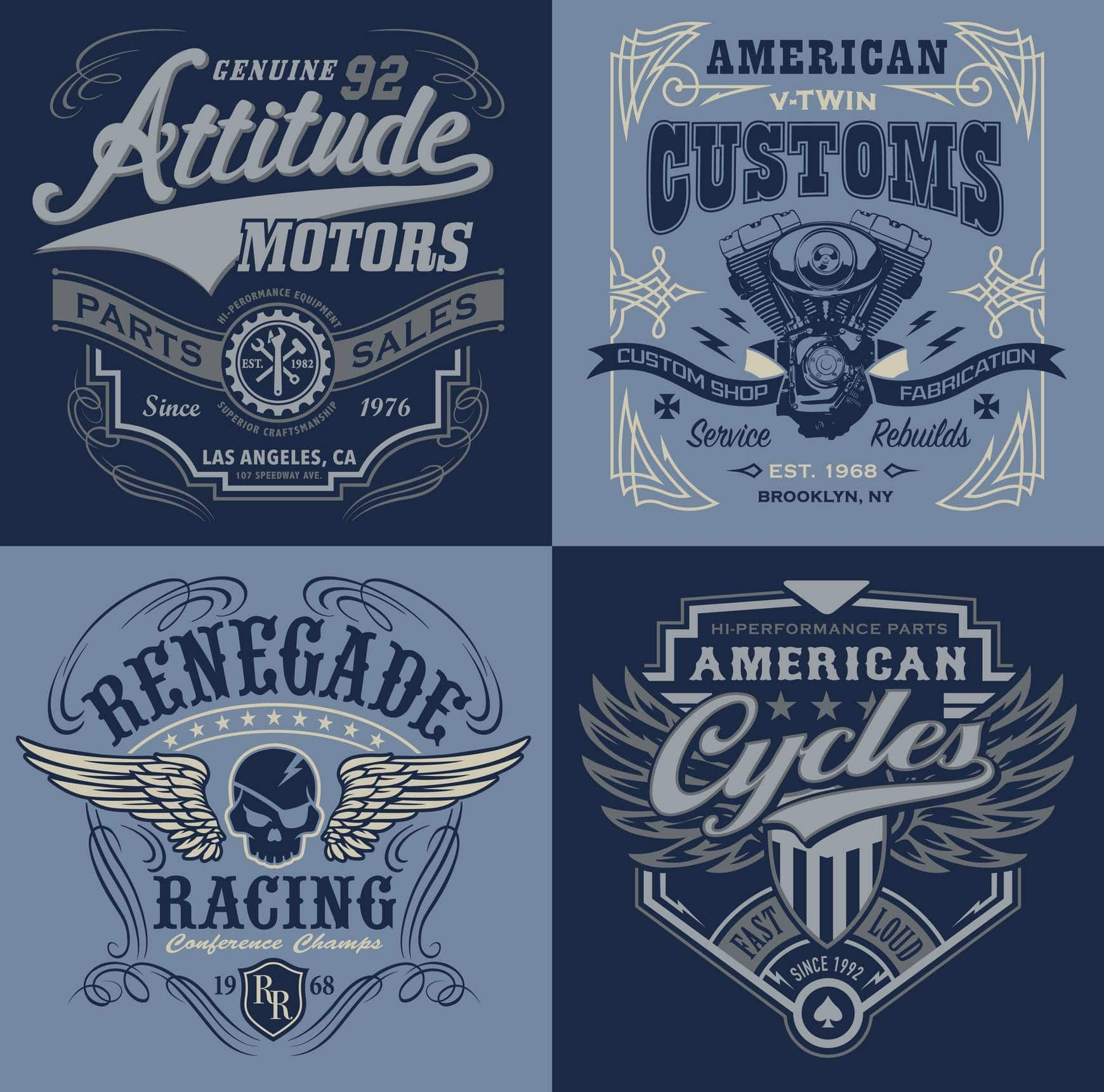 logo pour t-shirt de moto