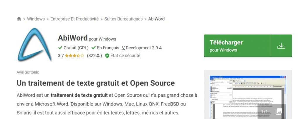 AbiWord le logiciel de traitement de texte open source