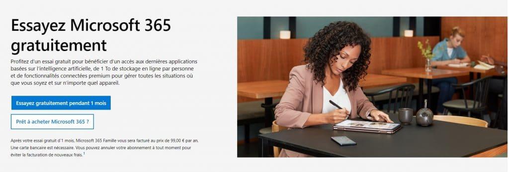 La version essai famille Microsoft 365