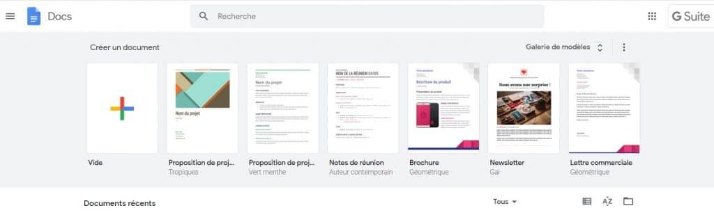 Google docs, l'outil de traitement de texte de Google
