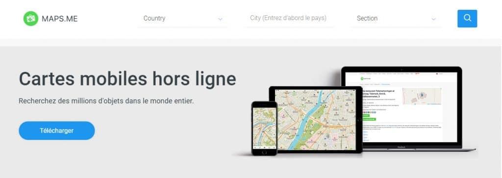 Présentation de l'appli Maps Me