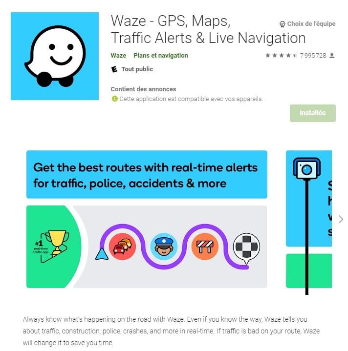 Waze, la plus connue