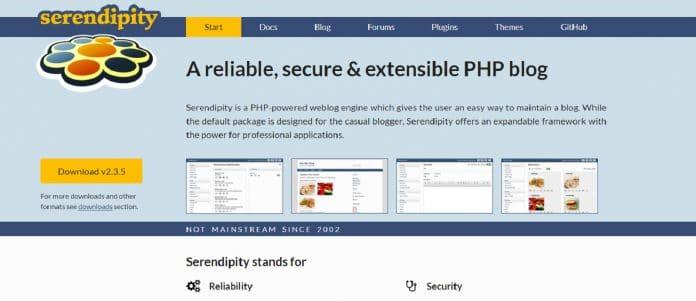CMS Serendipity: parce qu'il n'y a pas que WordPress dans la vie!